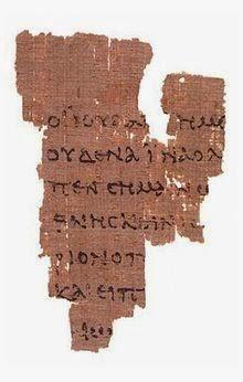 P52 - Manuscrito John Rylands. Porciones de Juan 18. Fechado en el II d. C.